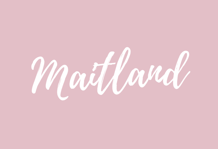 Maitland name meaning