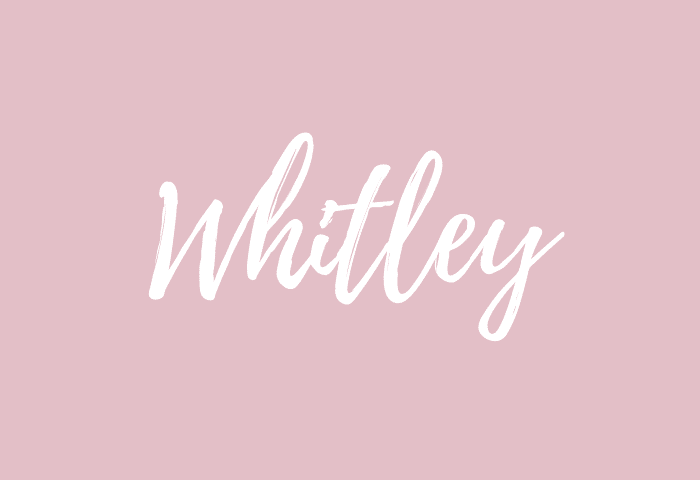 whitley name meaning