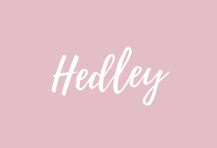 Hedley Name Meaning