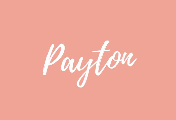 payton name meaning