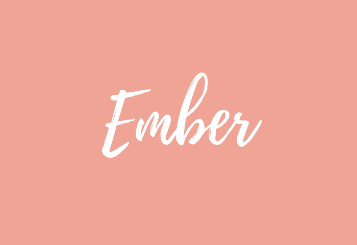 ember name meaning