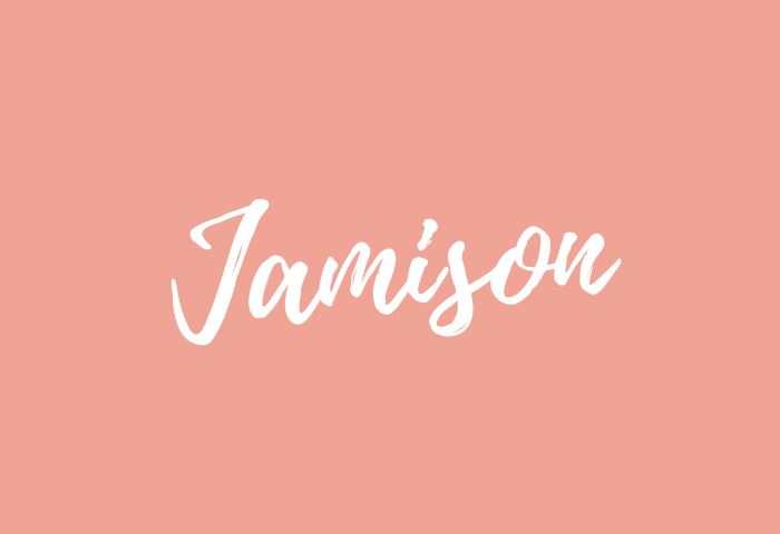 Jamison Name Meaning