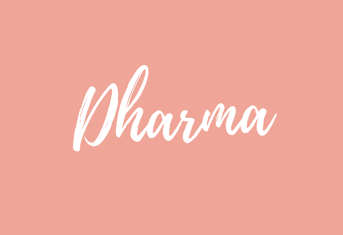 Dharma name meaning