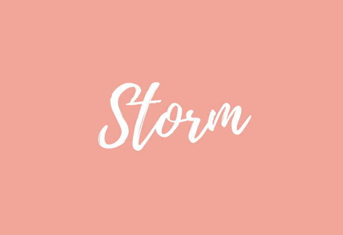 Storm name meaning
