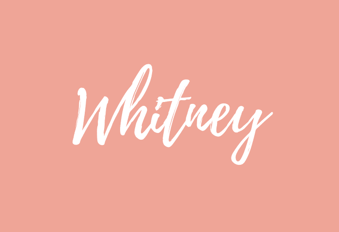 Whitney Name Meaning