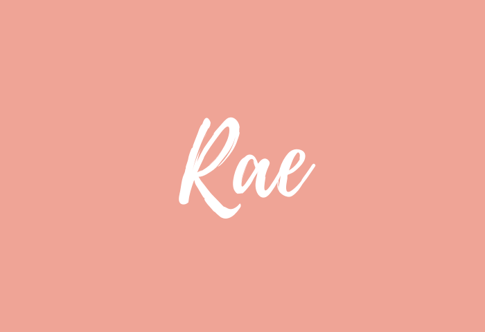 rae name meaning