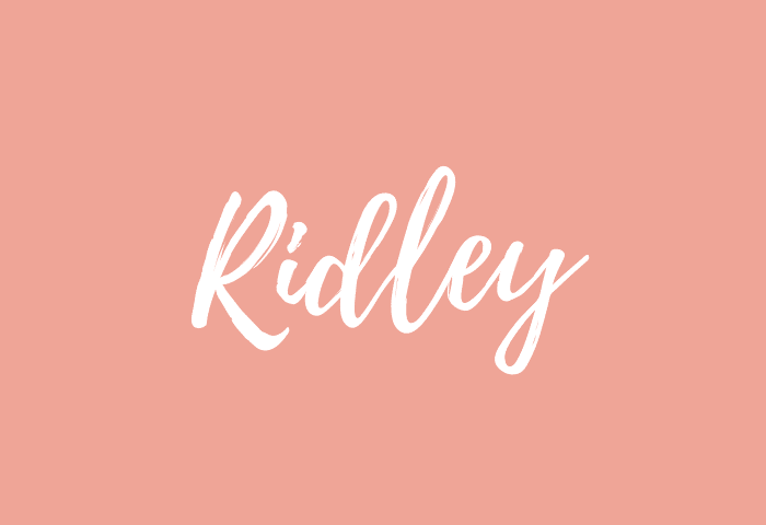Ridley name meaning
