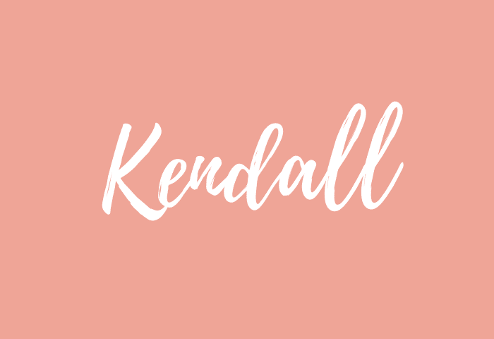 kendall name meaning