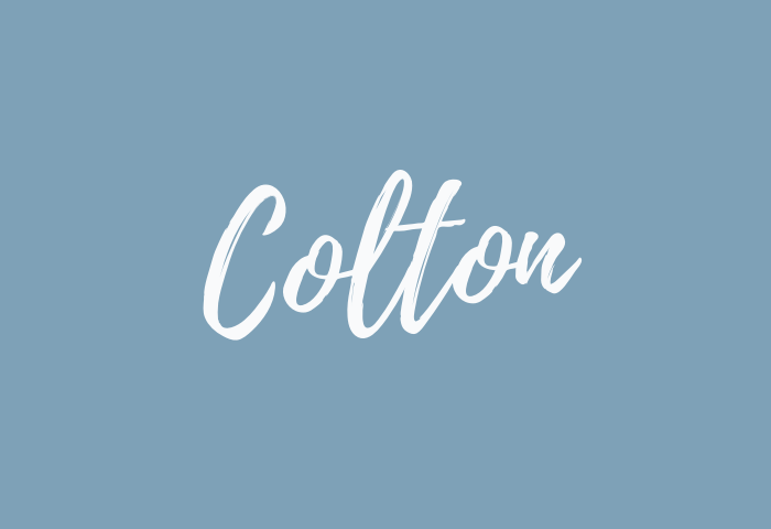 colton name meaning