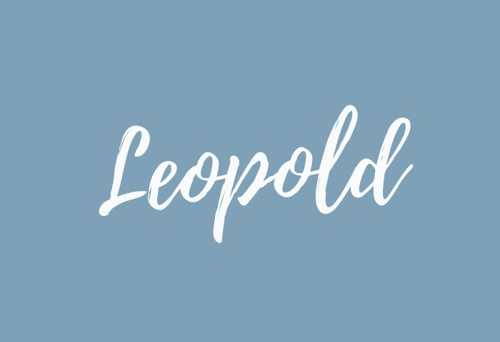 Leopold name meaning