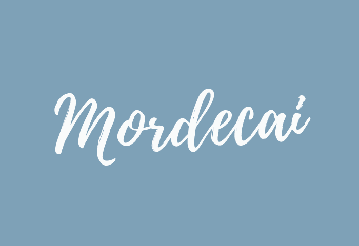 Mordecai name meaning
