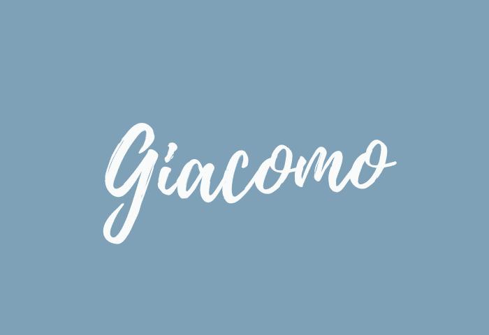 Giacomo name meaning