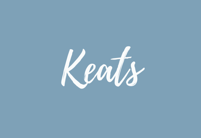 Keats name meaning