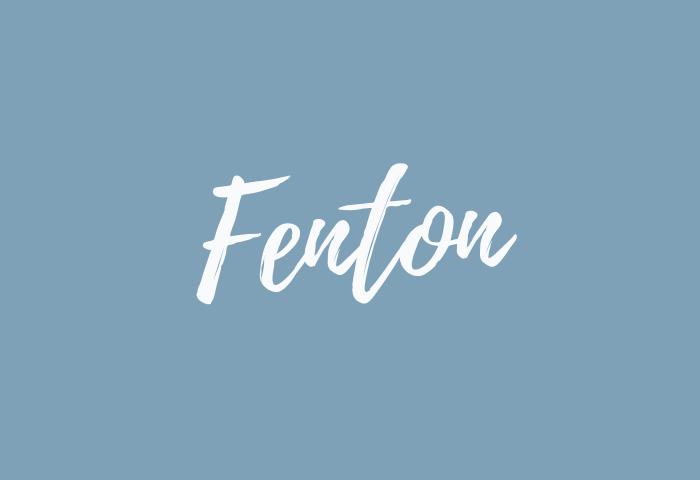 fenton name meaning