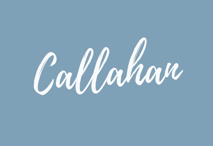 callahan name meaning