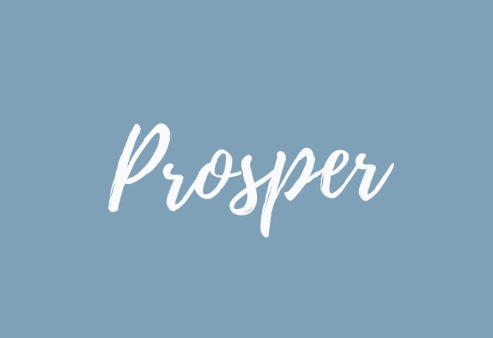 prosper name meaning