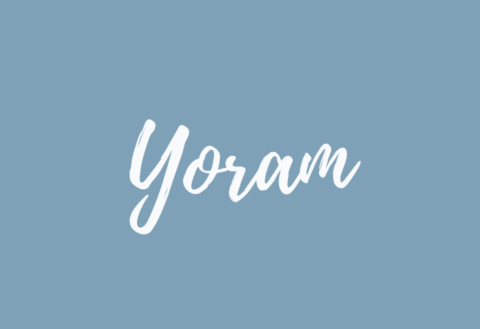 Yoram name meaning