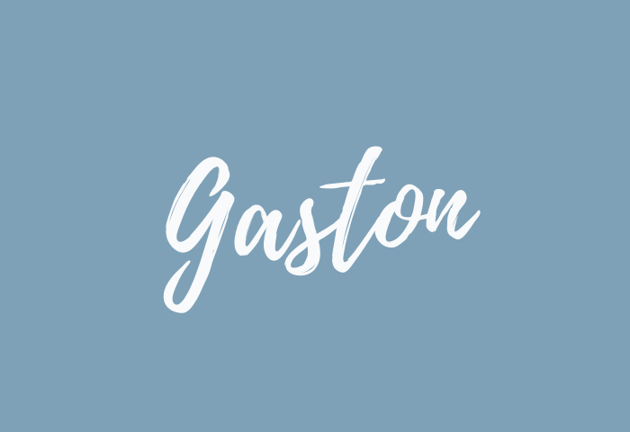 gaston name meaning