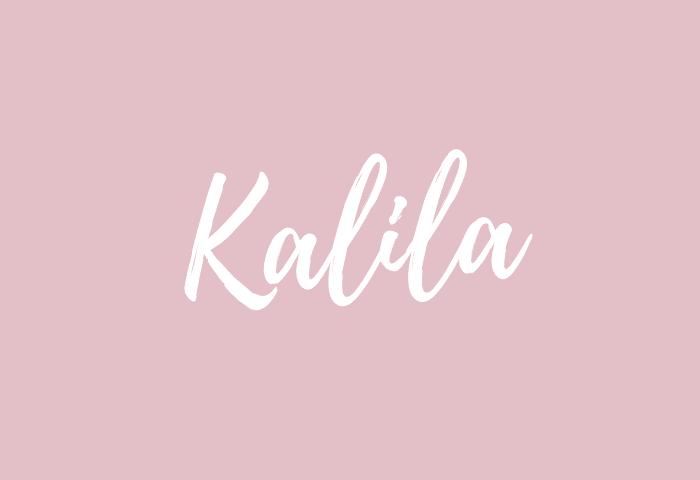 Kalila name meaning