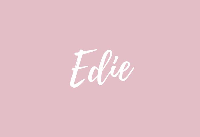 edie name meaning