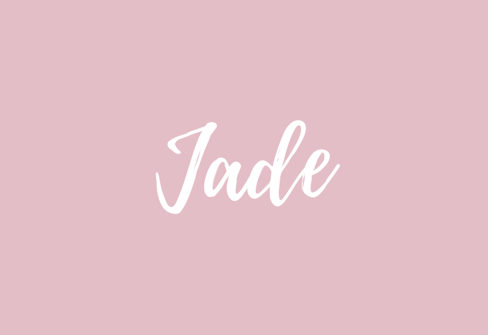 jade name meaning