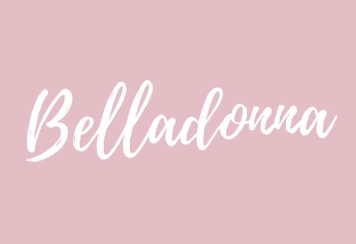 belladonna name meaning
