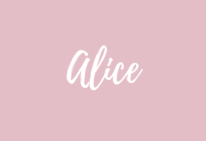 alice name meaning