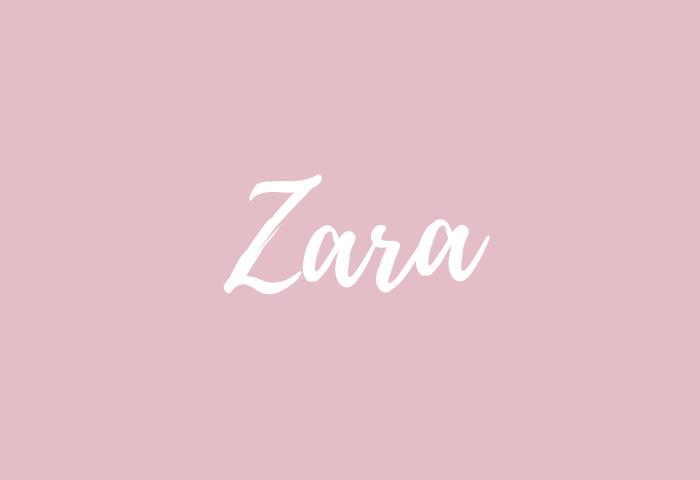 zara name meaning