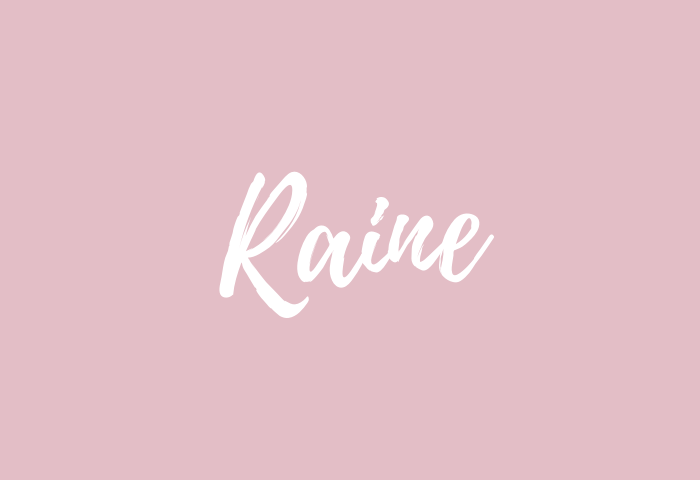 raine name meaning