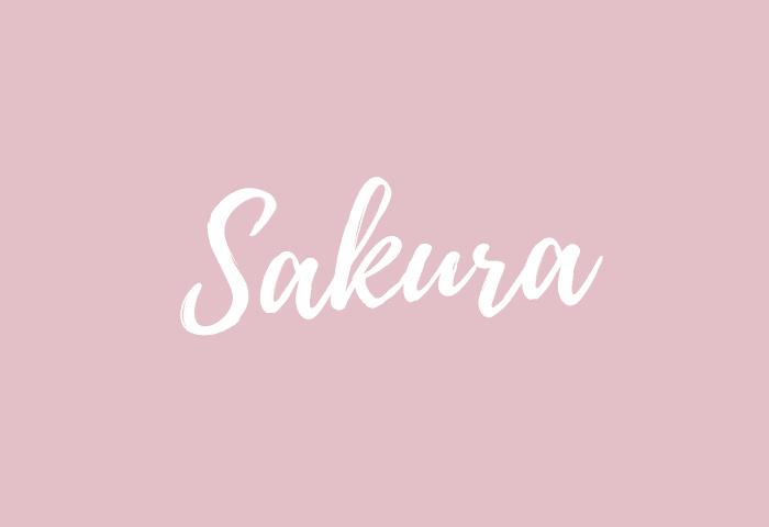 Sakura name meaning
