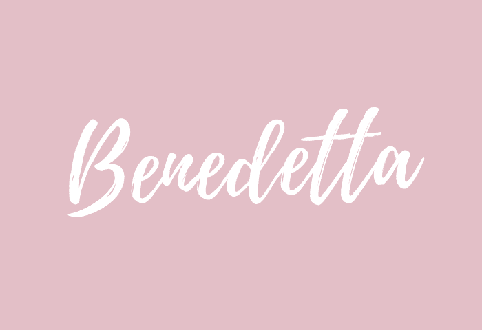benedetta name meaning