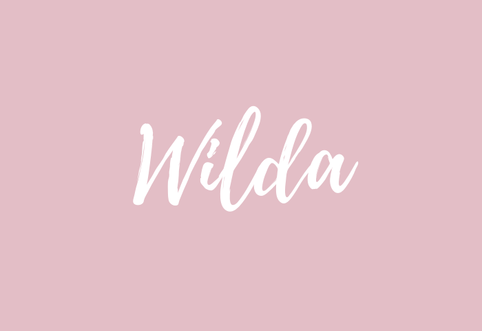wilda Name Meaning