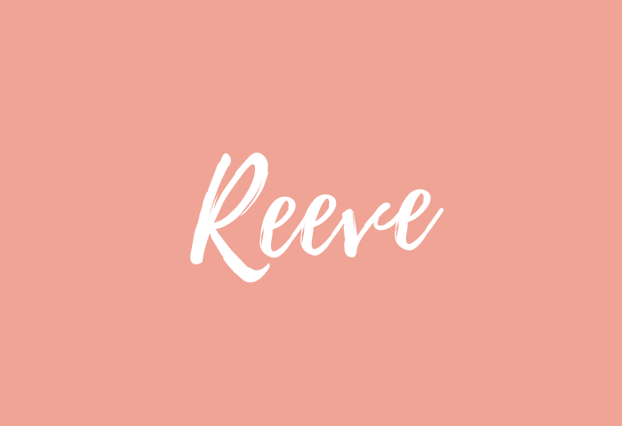 Reeve name meaning