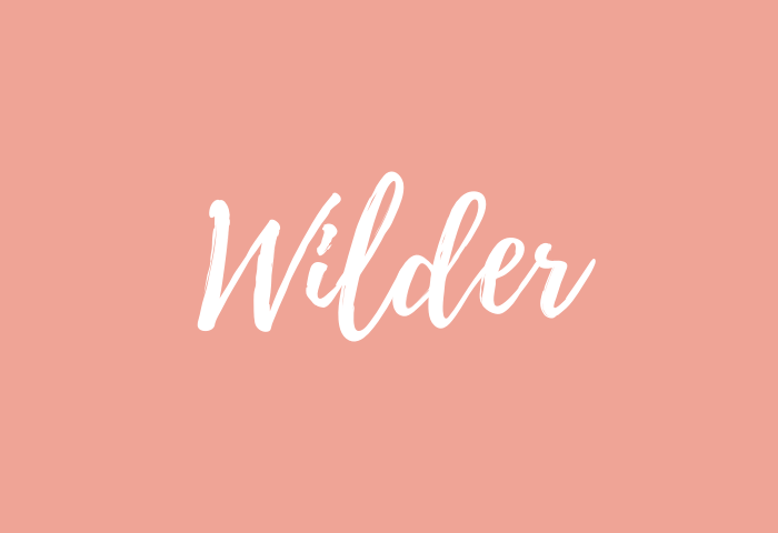 wilder name meaning