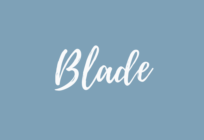 blade name meaning