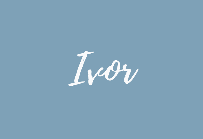ivor name meaning