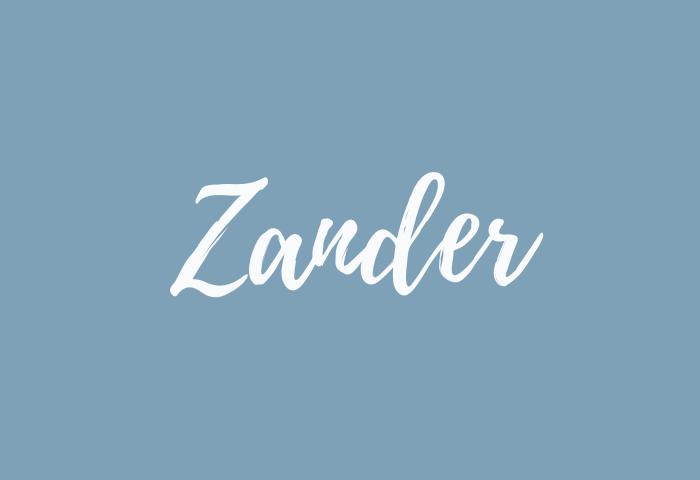 zander name meaning