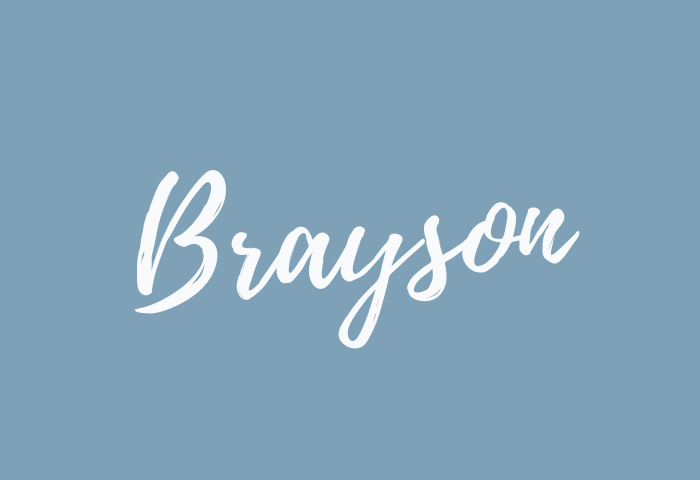 brayson name meaning