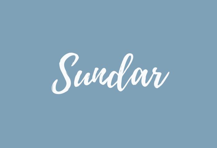 sundar name meaning