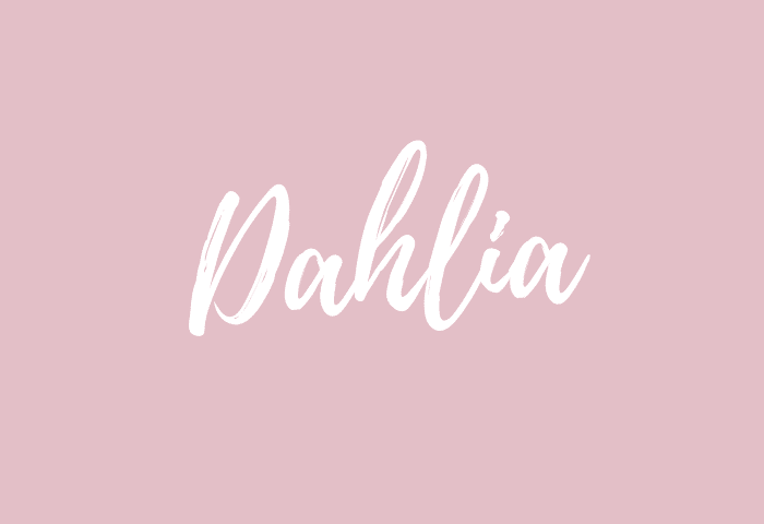 dahlia name meaning