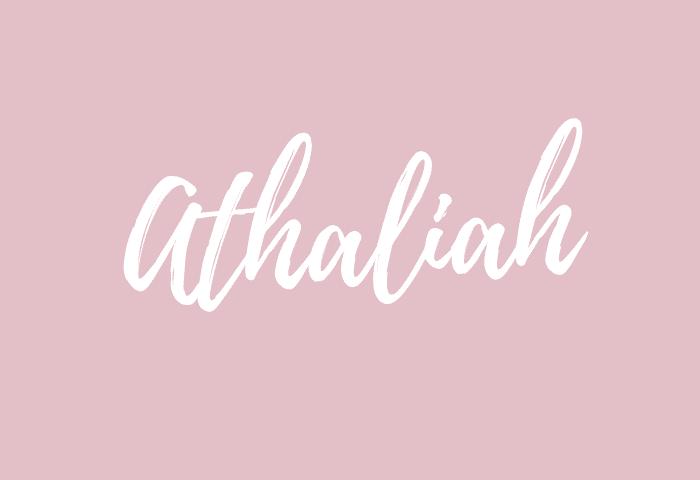 athaliah name meaning