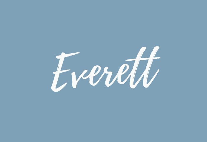 everett name meaning