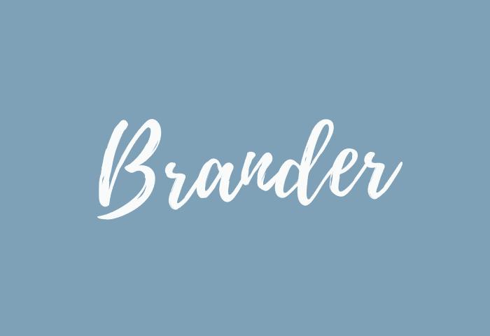 Brander name meaning