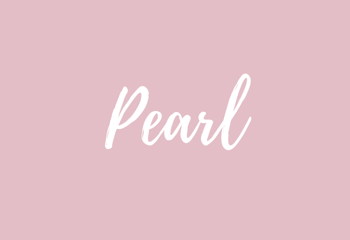 pearl name meaning