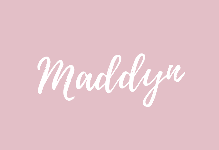 maddyn Name Meaning