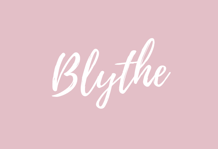 blythe name meaning