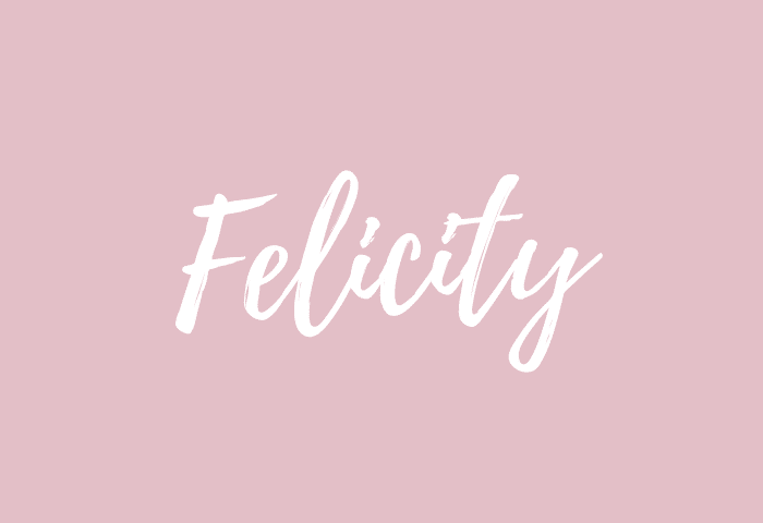 felicity name meaning