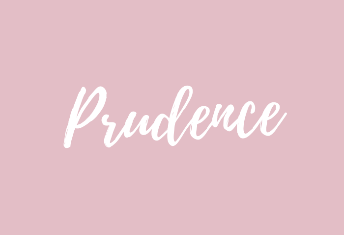 prudence name meaning