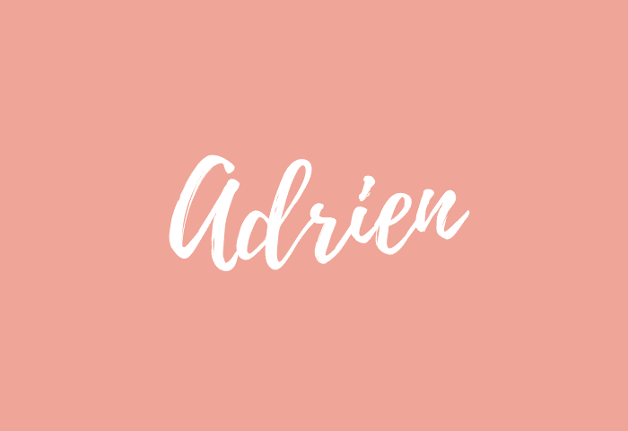 adrien name meaning