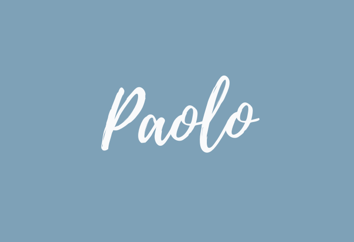 Paolo Name Meaning